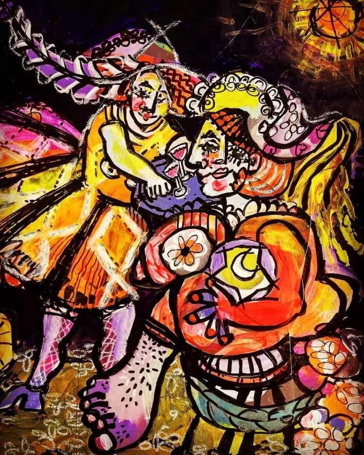 Painting by Brigitte Lacasse