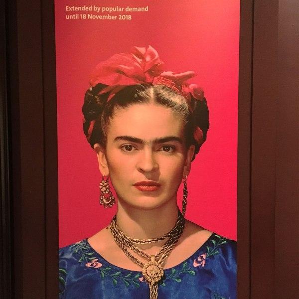 Frida Kahlo: Making Her Self Up poster at the V&A