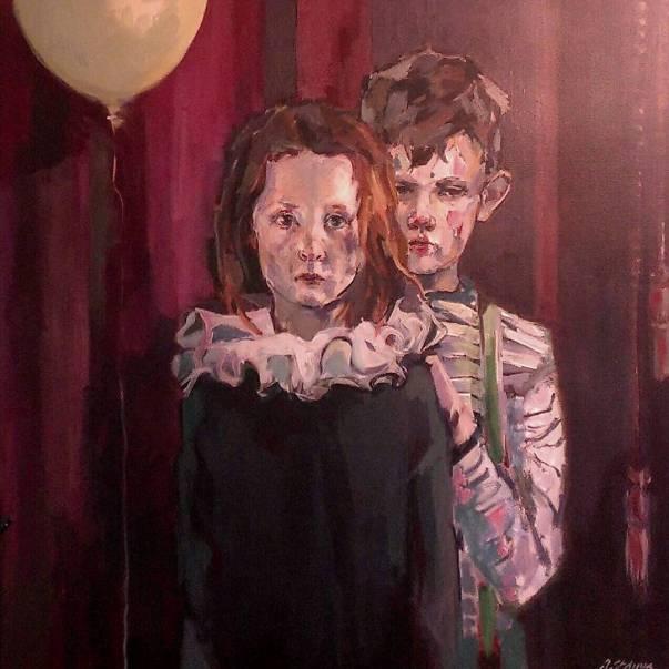 """""""Klovnen som du ser"""" painting by Ingebjørg Frøydis Støyva"""