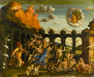 Andrea Mantegna Minerva expelling the Vices from the Garden of Virtue, about 1500–2 © RMN-Grand Palais (musée du Louvre) / Gérard Blot