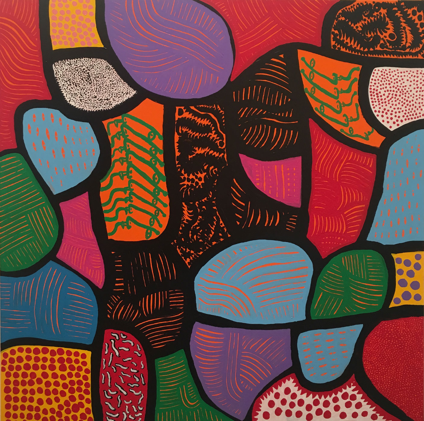 My eternal soul paintings, Yayoi Kusama, Victoria Miro