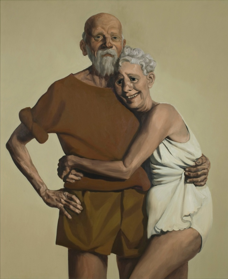 'Old couple' by John Currin. Photograph: John Currin/Copyright the Artist