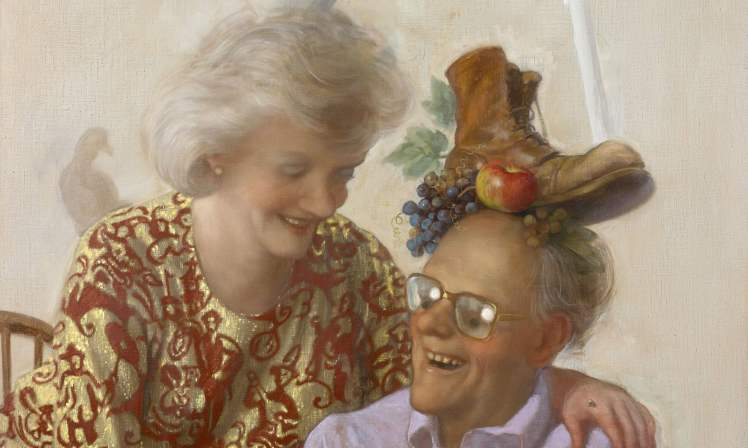 'Extremely good at being excessively bad' ... Newspaper Couple by John Currin. Photograph: John Currin/ Copyright the Artist, Courtesy Sadie Coles HQ, London