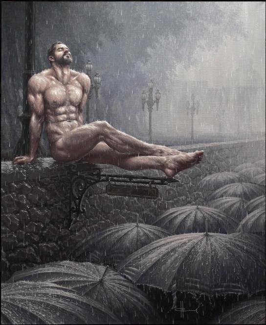 deep breath, oil on canvas, © Igor Sychev -
