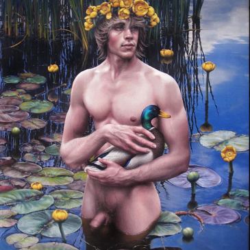 naiad boy version 2, oil on canvas, © Igor Sychev