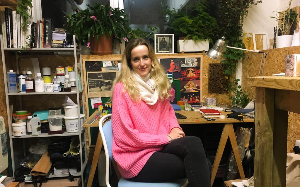 Anastasya Martynova in her studio at Peckham Levels