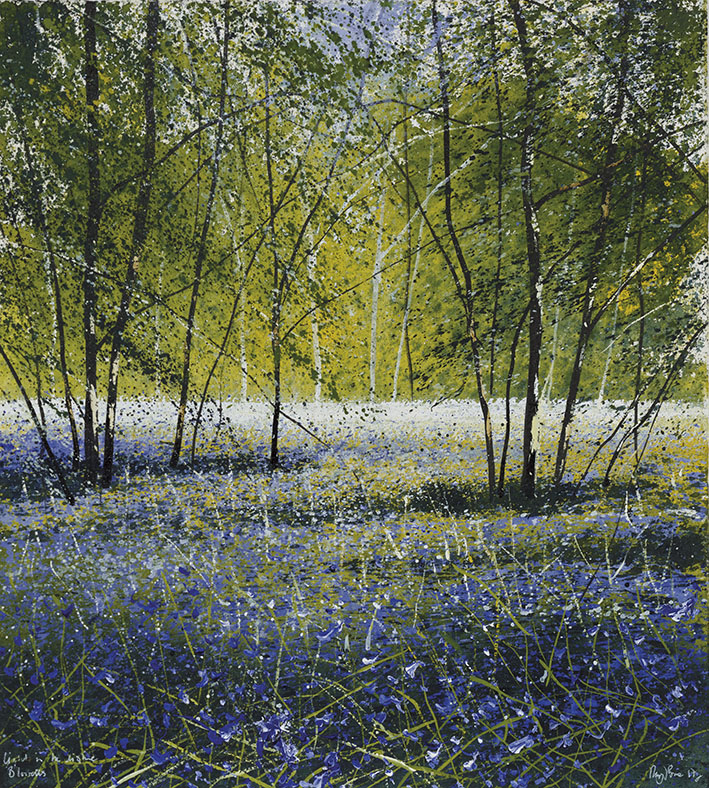 """Light in the glade; bluebells"" by Rory J Browne"