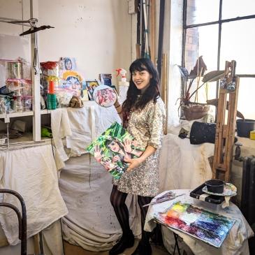 Sarah Stieber in studio